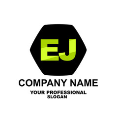 letter logo two letters e and j vector image