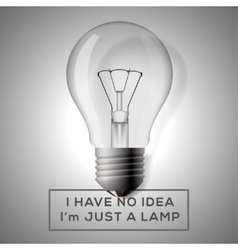 light bulb with innovation idea concept vector image