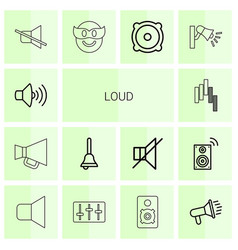 Loud icons vector