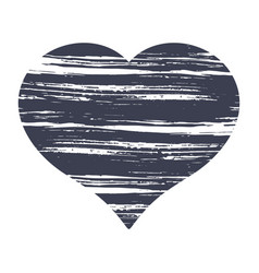 love heart paint brush shapes on white background vector image