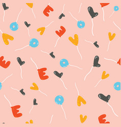 lovely childish seamless pattern with fly balloons vector image