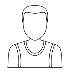 Male avatar profile picture icon outline style vector image