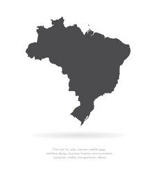 map brazil isolated black on vector image