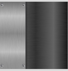 Metal brushed background with horizontal vector
