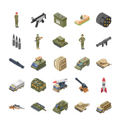 Military special forces army icons pack vector