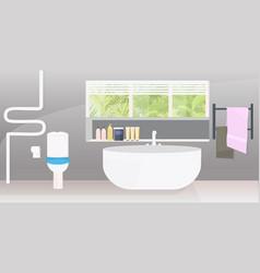 Modern bathroom interior empty no people apartment vector