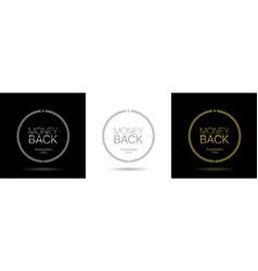 Money back icon vector