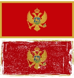 Montenegro grunge flag Grunge effect can be vector image