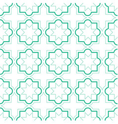 Moroccan geometric tiles seamless pattern vector