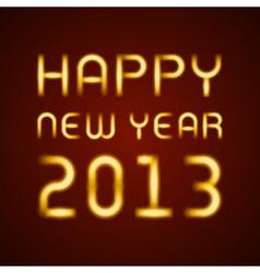 Neon light happy new year message vector