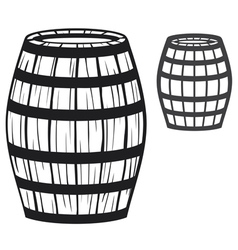 old wooden barrel vector image