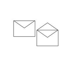 opened and closed envelopes vector image