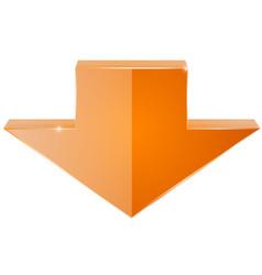 Orange down arrow vector