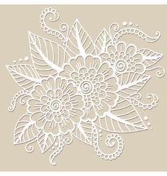 Oriental flower ornament vector image