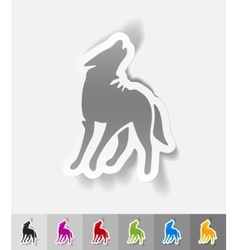 realistic design element wolf vector image