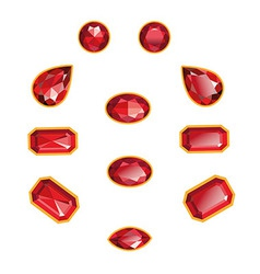 Ruby Set Isolated Objects vector