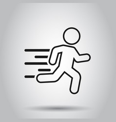running people sign icon in flat style run vector image