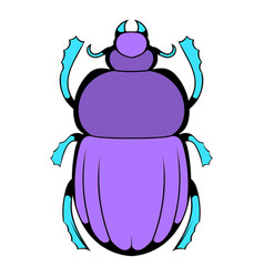 Scarab icon cartoon vector