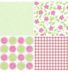 Scrapbook patterns for design vector vector