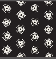 seamless sunburst shapes freehand pattern vector image
