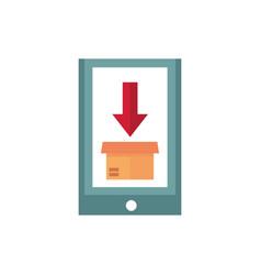 smartphone order consumerism business commerce vector image