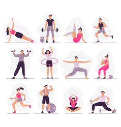 sport people young athletic woman fitness vector image