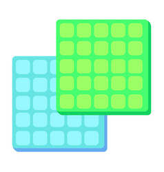 square colorful foam rubber flaps for dusting vector image