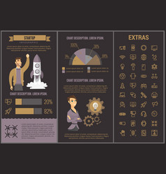 Startup infographic template elements and icons vector