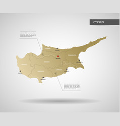 stylized cyprus map vector image