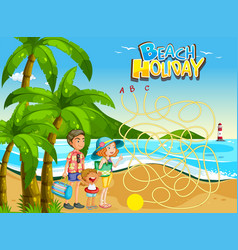 summer beach holiday game template vector image