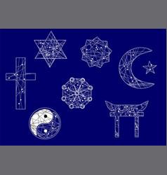 Symbols of religion vector