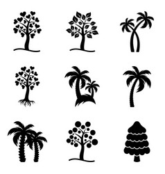 Tree icons collection vector