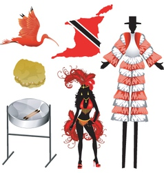 Trinidad and tobago icons vector
