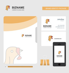 Turkey business logo file cover visiting card and vector