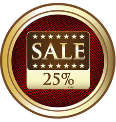 Twenty five percent sale icon vector