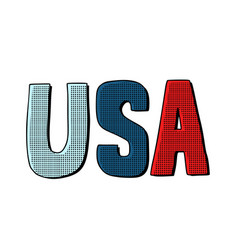 Usa word letters united states america vector