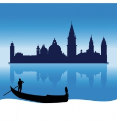 Venice silhouette skyline vector