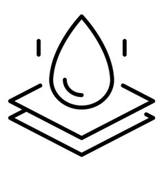 Waterpromembrane icon outline style vector