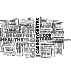 what s in a good diet text word cloud concept vector image