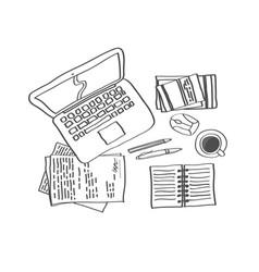 Workplace sketch 1 vector