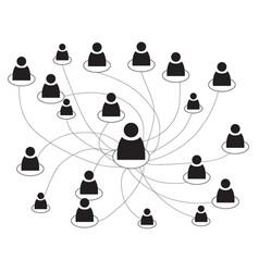 business people scheme vector image vector image