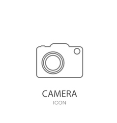 Camera icon Flat style object vector image vector image