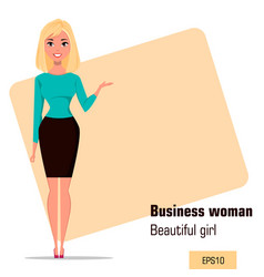 character beautiful business woman 02 vector image vector image