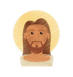 drawing jesus christ portrait image vector image vector image