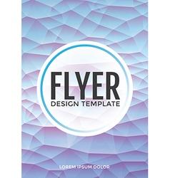 Pastel modern blue polygonal brochure flyer vector image