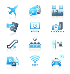 Airport icons - MARINE series vector image