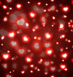 Seamless red valentine background vector image vector image