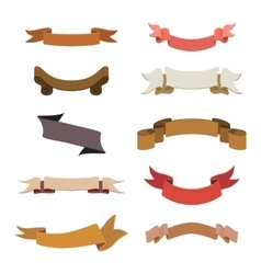 Set of retro ribbons and labels collection vector image