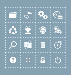 System icons - TECH series vector image vector image