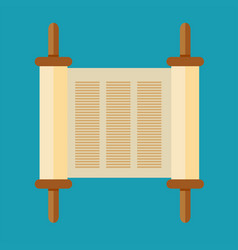 torah scroll icon in flat style vector image